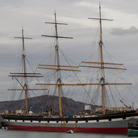 Balclutha is a three-masted, steel-hulled, square-rigged ship built to carry a variety of cargo all over the world. It was launched in 1886.