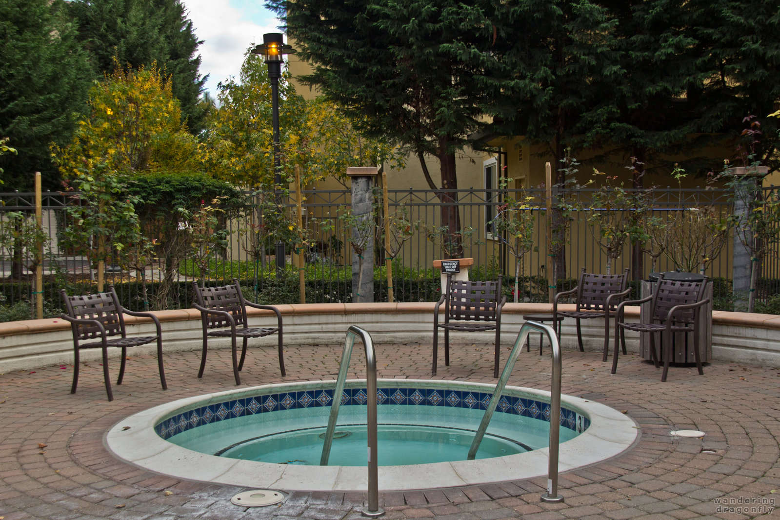 One of the jacuzzies -- autumn, jacuzzi