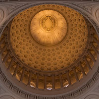 The structure's beautiful dome is the fifth largest in the world, even higher than the United States Capitol.