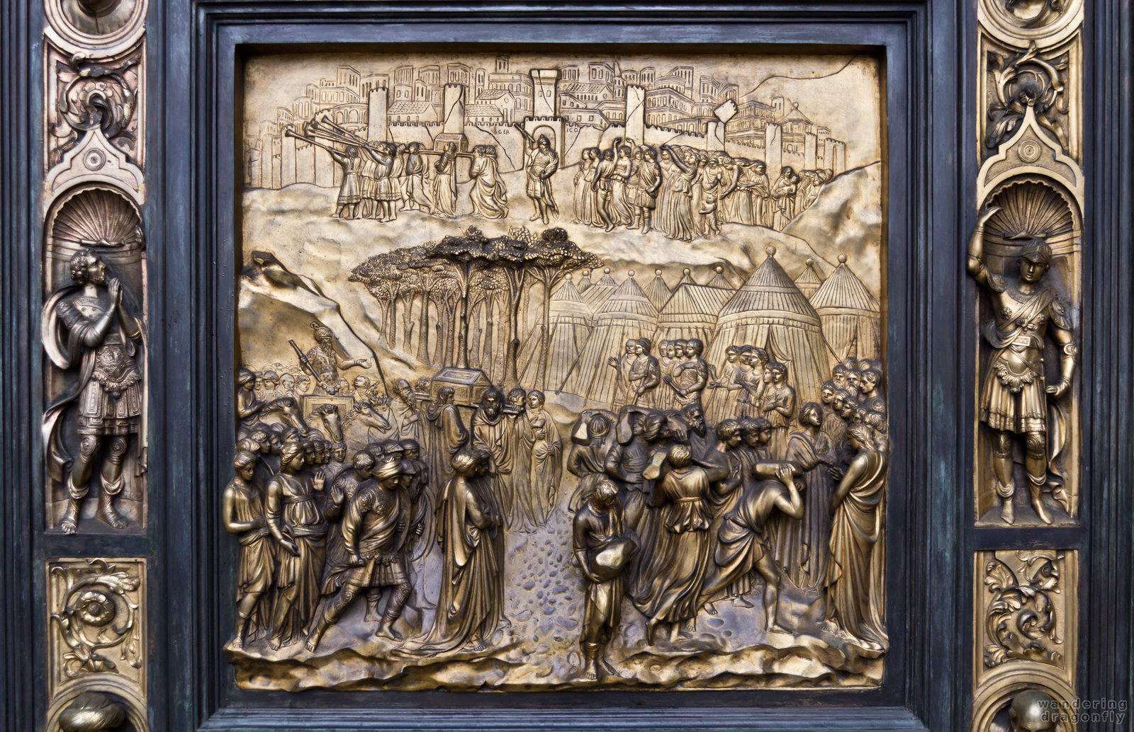 Another relief of the cathedral's gate -- art, relief