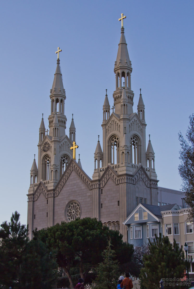 The towers of the Saints Peter and Paul Church -- christian temple