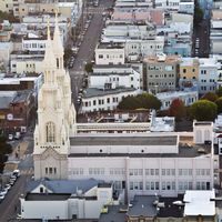 This is a Roman Chatolic Church in San Francisco's North Beach neighborhood, which is known as