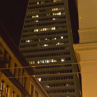 … as viewed from the California Street. The cap is indirectly illuminated from within.